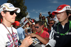 Adrian Sutil, Force India F1 Team, signs autographs