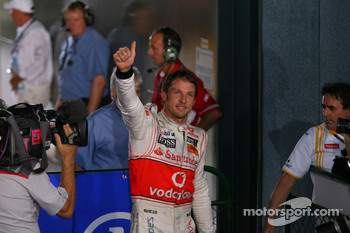 Race winner Jenson Button, McLaren Mercedes