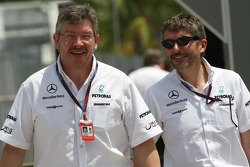 Ross Brawn Team Principal, Mercedes GP, Nick Fry, Chief Executive Officer, Mercedes GP