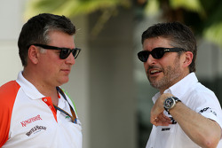 Otmar Szafnauer Force India F1 Chief Operating Officer, Nick Fry, Chief Executive Officer, Mercedes GP
