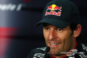 Post-race press conference: second place Mark Webber, Red Bull Racing