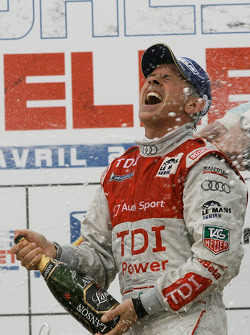 LMP1 podium: class and overall winner Rinaldo Capello