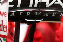 Fernando Alonso, Scuderia Ferrari F-Duct system detail, rear