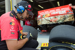 Earnhardt Ganassi Racing crew member at work