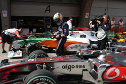 Sebastian Vettel, Red Bull Racing gets pole position