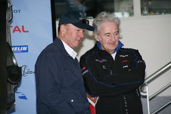 Peugeot Sport director Olivier Quesnel and Hugues de Chaunac