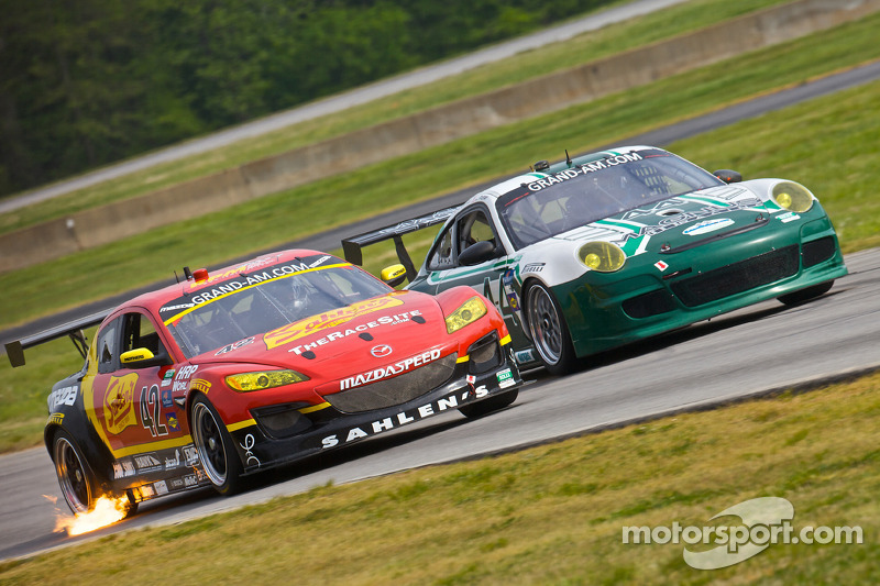 #42 Team Sahlen Mazda RX-8: Will Nonnamaker, Joe Sahlen, #44 Magnus Racing Porsche GT3: John Potter, Craig Stanton