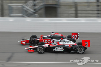 Ryan Hunter-Reay, Andretti Autosport and Helio Castroneves, Team Penske