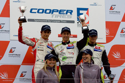 Innvotation class podium: Esteban Gutierrez, Alexander Simms and Jim Pla