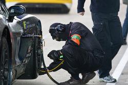 Mad-Croc Racing team member at work