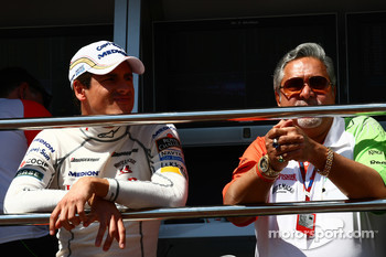 Adrian Sutil, Force India F1 Team and Vijay Mallya Force India F1 Team Owner