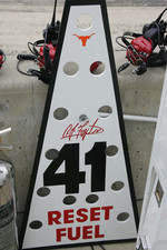 Pit sign for A.J. Foyt IV., A.J. Foyt Enterprises