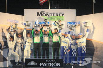 Podium: GTC top three finishers
