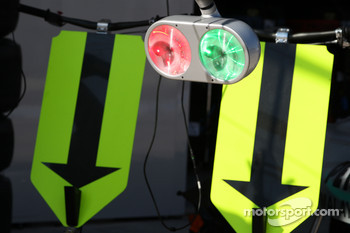 Pitstop lights of Mercedes GP
