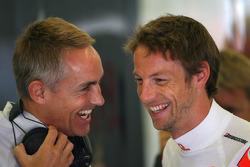Martin Whitmarsh, McLaren, Chief Executive Officer and Jenson Button, McLaren Mercedes