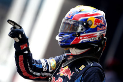 Pole winner Mark Webber, Red Bull Racing