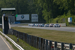 #10 SunTrust Racing Ford Dallara: Max Angelelli, Ricky Taylor  leads a late restart.