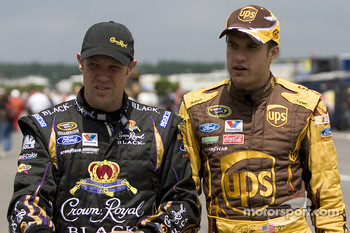 Matt Kenseth, Roush Fenway Racing Ford and David Ragan, Roush Fenway Racing Ford