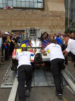 #4 Team Oreca Matmut Peugeot 908 out of scrutineering