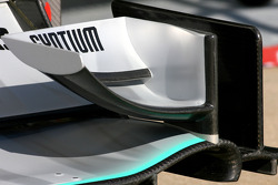 Mercedes GP front wing detail