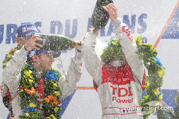 LMP1 podium: champagne celebration