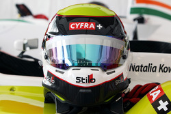 The helmet of Natalia Kowalska