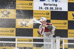 Подіум: переможець Едоардо Мортара, Audi Sport Team Abt Sportsline, Audi RS 5 DTM