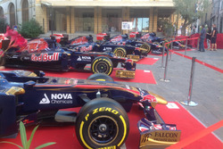 The 10 cars of Toro Rosso on display