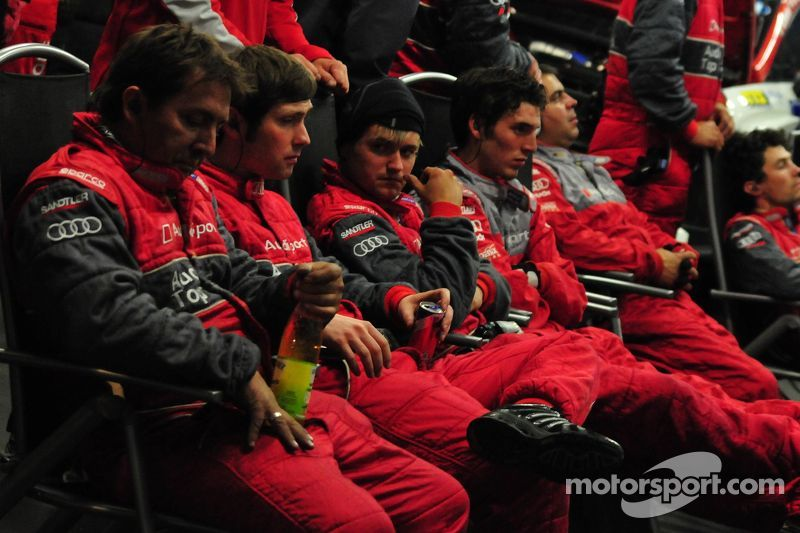 The Audi Crew relaxing at night