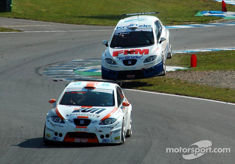 Philipp Leisen taking a leap, SEAT Leon Supercopa Oschersleben 2008