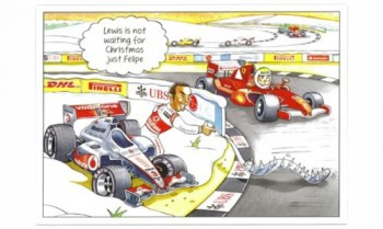 Bernie Ecclestone Christmas Card