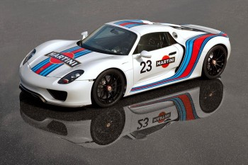 Porsche 918 Martini Sponsors Colors
