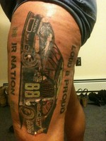 Dale Earnhardt Jr fan tattoo