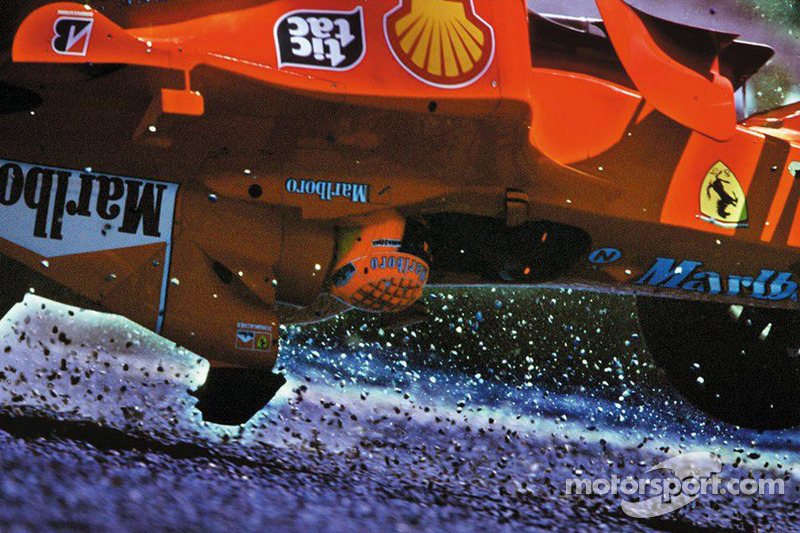 Michael Schumacher going upside down