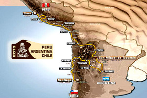 The Dakar 2013 Route - Credit: ASO - DAKAR Website