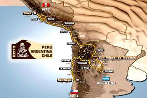 The Dakar 2013 Route - Credit: ASO - DAKAR Website
