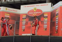 Mike Weinreb giving it his best Dan Gurney Impression on the Coppa Shell winners podium