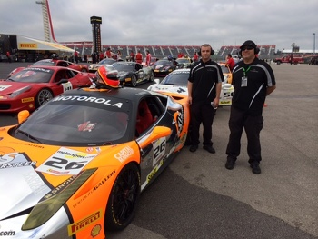 Don Cameron & Bill Barrett of the Auto Gallery Motorsports Ferrari Challenge team
