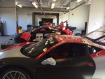 Ferrari Challenge Test Day at Laguna Seca - The Garages are looking good!