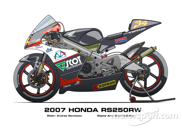 Honda RS250RW - 2007 Andrea Dovizioso