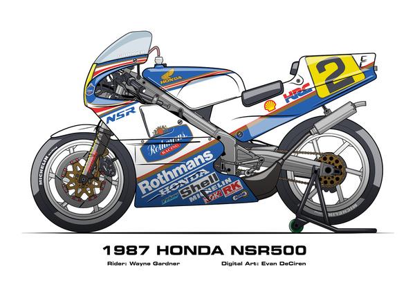 Honda NSR500 - 1987 Wayne Gardner