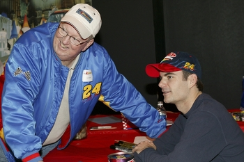 Jeff Gordon and former driving instructor Larry Sparks