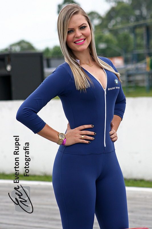 Moto 1000 GP championship, grid girl at