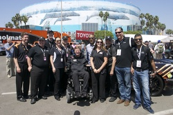 Sam Schmidt after driving Corvette on Long Beach racecourse.