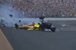 Late-race crash