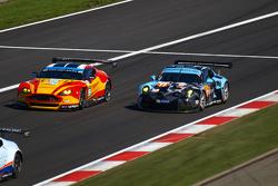 #99 Aston Martin Vantage V8 - MacDowall, Rees & Stanaway  #77 Dempsey Proton Racing Porsche 911 RSR