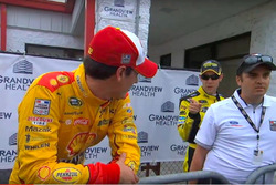 Joey Logano and Matt Kenseth