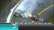 Late Race Pile Up Exiting Turn 2 Coke 400 Daytona - Daytona International Speedway 2011
