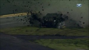 Waltrip Crashes - Daytona International Speedway 2011