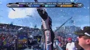 Tony Stewart From Victory Lane - Kobalt Tools 400 - Las Vegas 2012